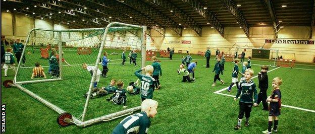Iceland's 3G dome pitches