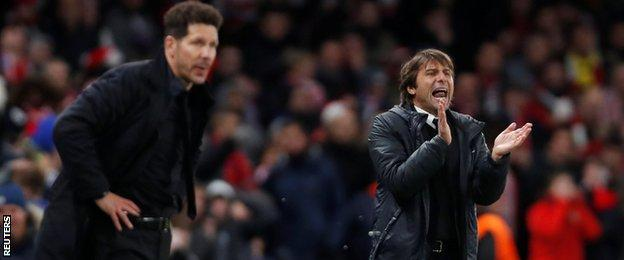 Diego Simeone and Antonio Conte