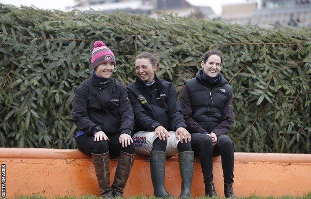 Katie Walsh, Bryony Frost and Rachael Blackmore all rode in last year's Grand National at Aintree