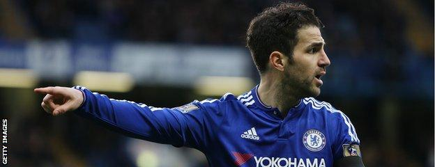 Cesc Fabregas points