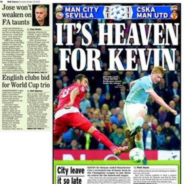 Daily Express back page