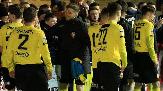 Portadown's fate was sealed by a 3-2 defeat by Ards