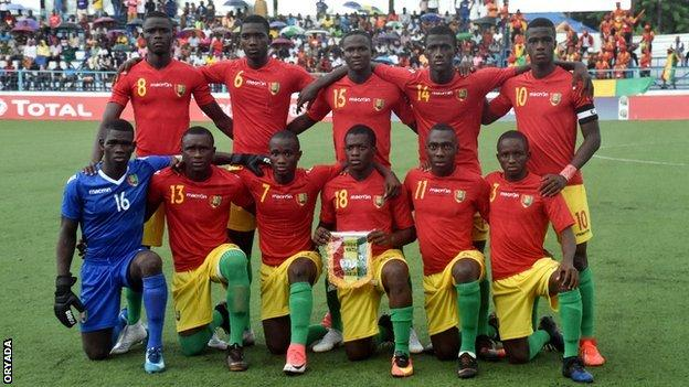 The Guinea under-17 side