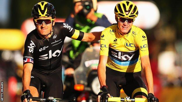 Geraint Thomas (L) and Chris Froome are again expected to spearhead Team Sky's challenge at the Tour de France