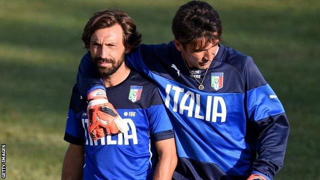 Pirlo and Buffon