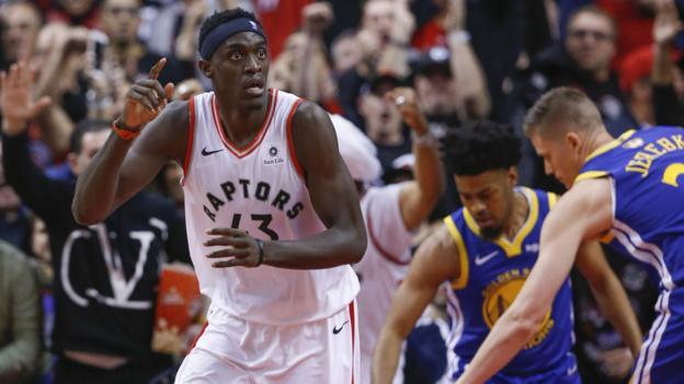 NBA Finals: Toronto Raptors beat Golden State Warriors to take 1-0 lead thumbnail