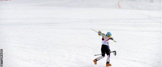 A skier in Almaty