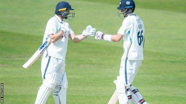 Adam Lyth's second century for Yorkshire in successive games was quickly followed by England captain Joe Root's first ton for the Tykes since April 2019