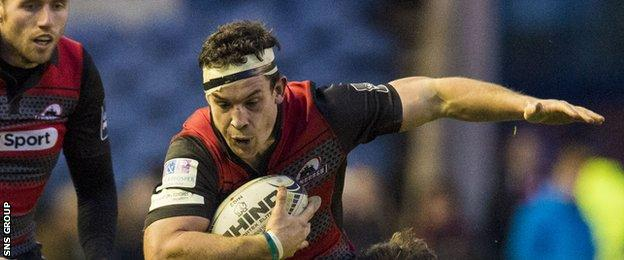 John Hardie in action for Edinburgh