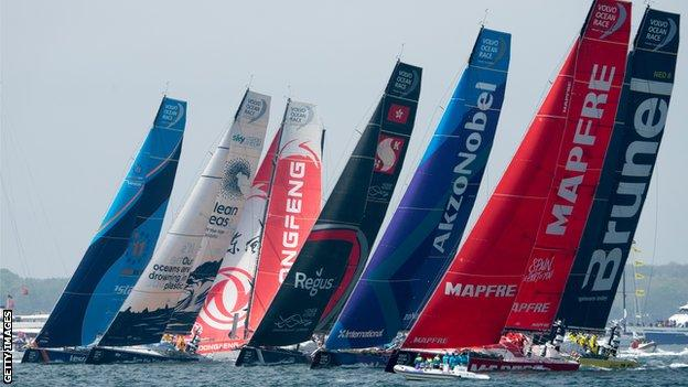 The Volvo Ocean Race flotilla left Newport, Rhode Island, on 20 May for the ninth leg to Cardiff