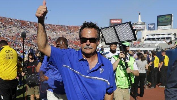 LA Rams head coach Jeff Fisher