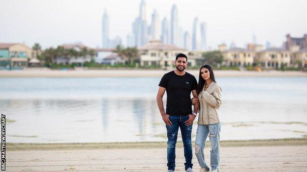 Amir Khan and Faryal Makhdoom in Dubai.