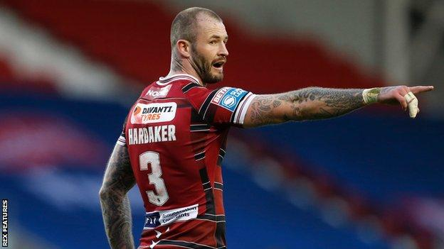 Zak Hardaker opened the scoring with his third try in three games for Wigan Warriors