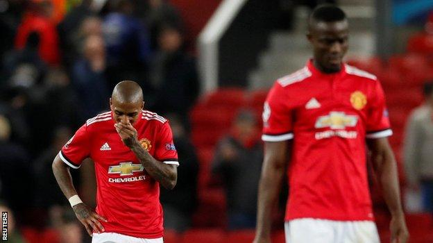 Manchester United defenders Ashley Young and Eric Bailly