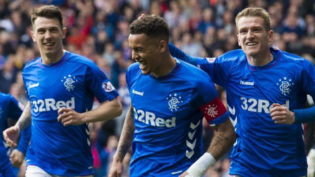 Rangers 2-0 Aberdeen: James Tavernier scores twice to deny Celtic title thumbnail