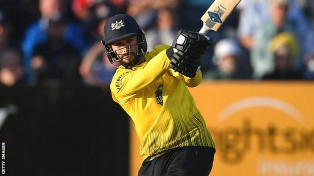 Jack Taylor in action for Gloucestershire in the T20 Blast