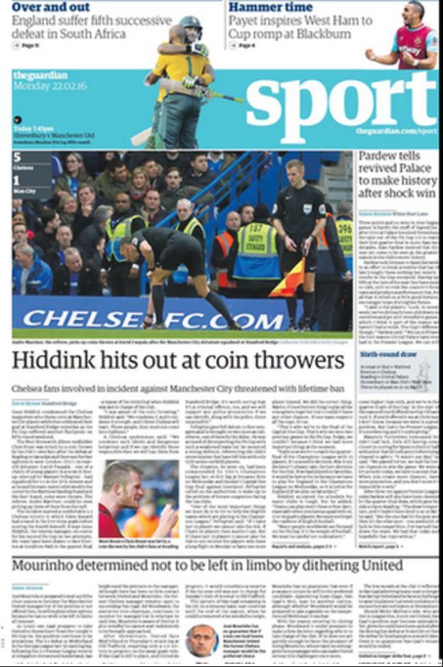 Monday's Guardian Sport