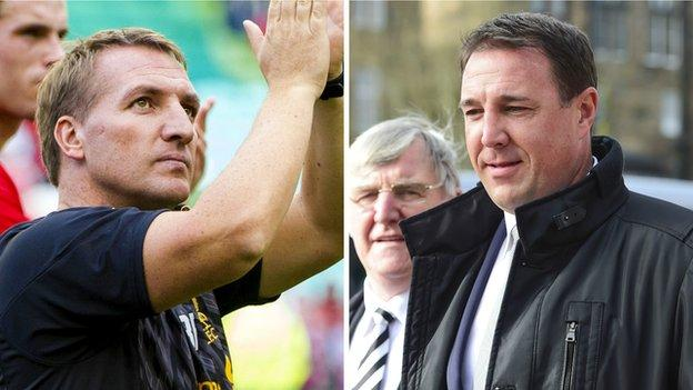 Brendan Rodgers and Malky Mackay
