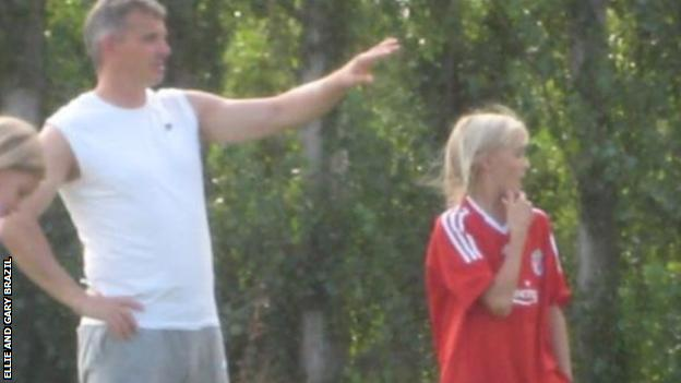 Gary with Ellie when she was younger