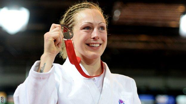 Sally Conway with her Commonwealth Games bronze medal