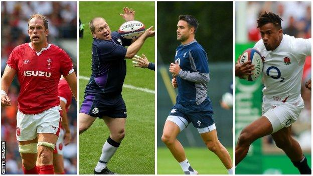 Alun Wyn Jones, WP Nel, Conor Murray and Anthony Watson