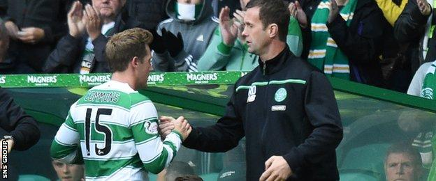 Kris Commons and manager Ronny Deila