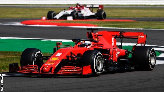 sports Sebastian Vettel's Ferrari