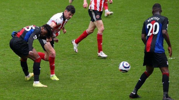 Ebere Eze scores against Sheffield United