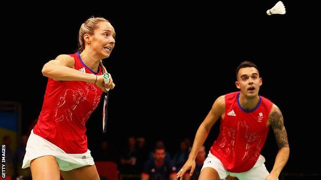 British badminton players Gabby and Chris Adock have won several medals together