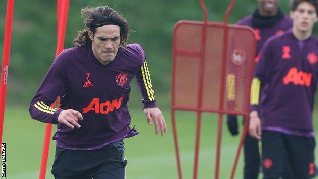 Manchester United forward Edinson Cavani