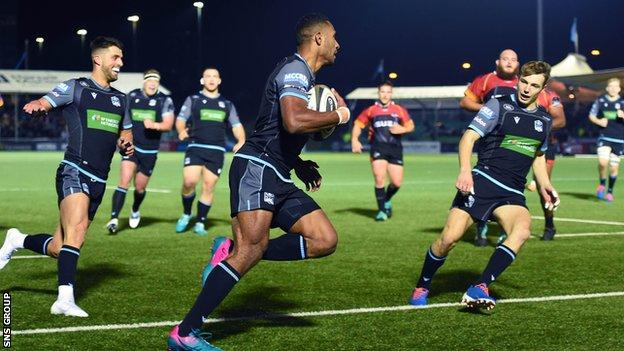 Ratu Tagive scores eighth Glasgow try