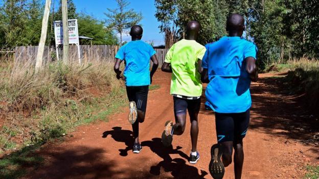 Marathon training in Iten