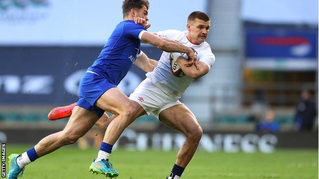 Henry Slade playing against France