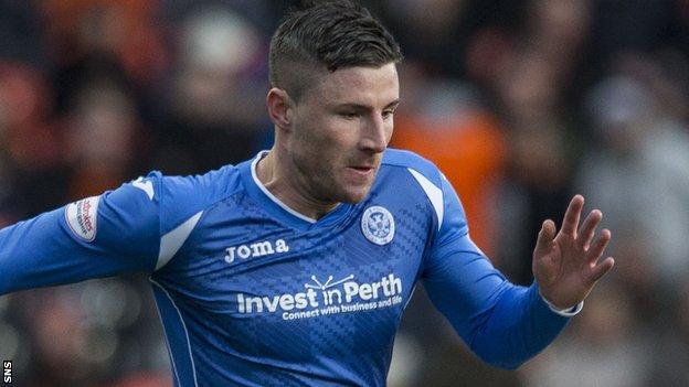 St Johnstone forward Michael O'Halloran