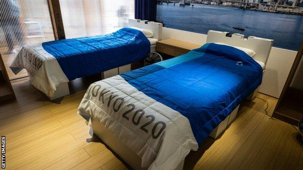 Athlete rooms in the Tokyo 2020 Olympic village