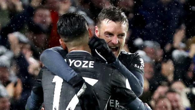 Brighton 0-2 Leicester: Jamie Vardy scores again as Foxes maintain winning run thumbnail