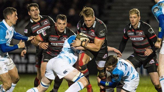Leinster and Edinburgh players