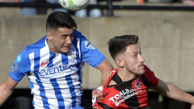 NI League Cup final: Coleraine 'hungry for success' ahead of 'mouth-watering' decider - Traynor