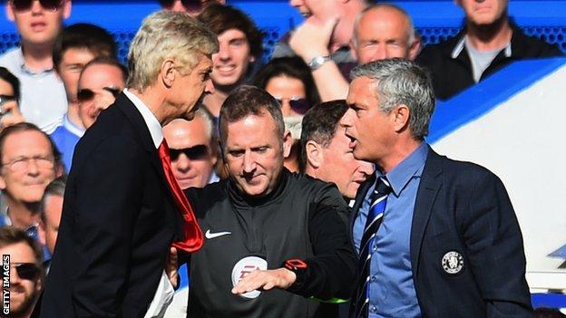Arsenal manager Arsene Wenger (left) and Chelsea boss Jose Mourinho