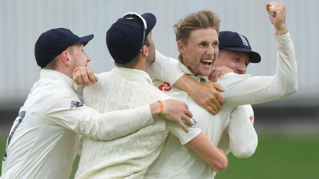 Root takes four wickets to put England on brink of victory