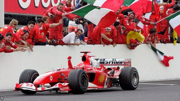 Michael Schumacher wins at Suzuka in 2004