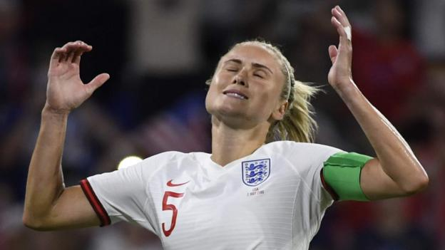 England 1-2 USA: Lionesses beaten in Women's World Cup semi