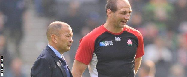 Steve Borthwick and Eddie Jones