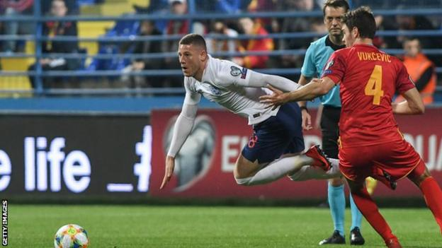Ross Barkley in action for England against Montenegro