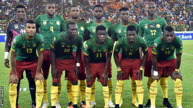 Cameroon's national football team in 2015