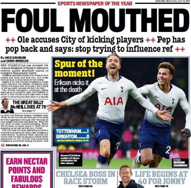 Mail's back page