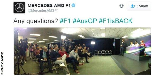 Drivers attend post-qualifying press conference