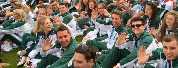 Guernsey's athletes at the Island Games opening ceremony