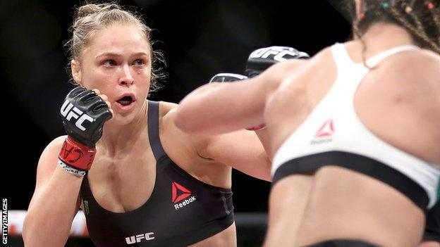 Ronda Rousey in action