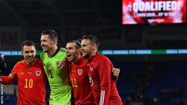 Aaron Ramsey. Wayne Hennessey, Gareth Bale and Chris Gunter